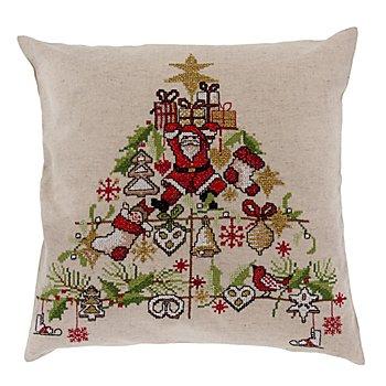 Stickkissen 'Weihnachtsbaum'