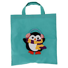 Punch Needle Tasche 'Pinguin'