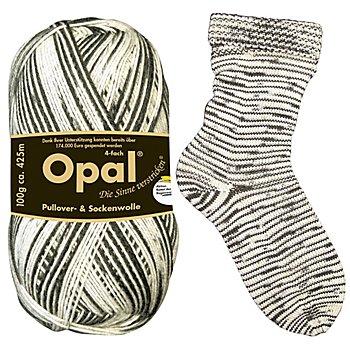 Opal Regenwald Sockenwolle 'Zebra'