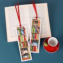 Lesezeichen 'Katzen Bücherregal'