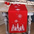 """Chemin de table à broder """"bois sous la neige"""""""