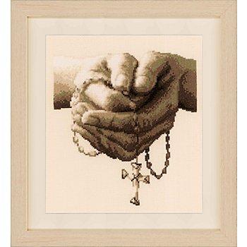 Stickbild 'Rosenkranz', 20 x 24 cm