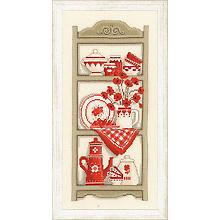 Stickbild 'Küchenschrank', 18 x 38 cm