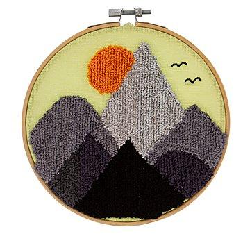 Tambour à broder Punch needle 'montagne'