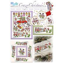 Stickvorlage 'Crazy Christmas'