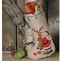 Chaussette de Noël à broder