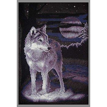Stickbild 'Wolf', 24,5 x 36 cm