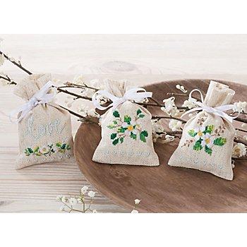 Geschenk- und Kräutersäckchen 'Kirschblüte', 3er-Set