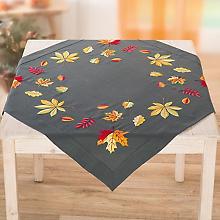 Stickmitteldecke 'Herbstlaub'