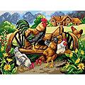 """Gobelin """"Hühner"""", 30 x 40  cm"""
