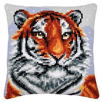 Kreuzstichkissen 'Sibirischer Tiger'