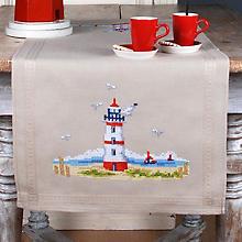 Stickläufer 'Leuchtturm Nordsee'