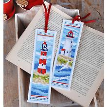 Lesezeichen 'Leuchtturm Nordsee', 2er-Set
