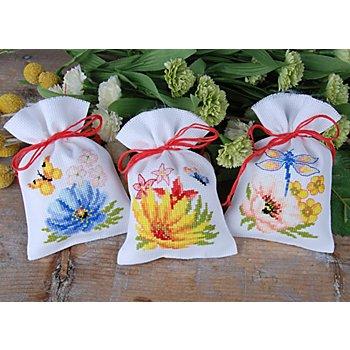 Geschenksäckchen 'Farbenpracht', 3er-Set