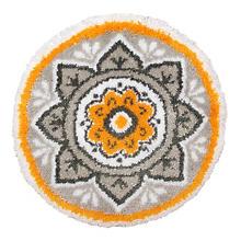 Knüpf-Formteppich 'Mandala', Ø 55 cm