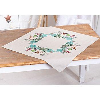 Stickmitteldecke 'Weihnachts-Deko'