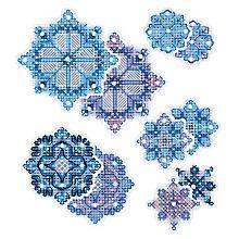 Stramin-Aufhänger 'Eiskristalle', 5er Set