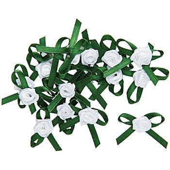 Mini-Röschen, grün, 2 cm, 16 Stück