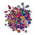"""Schmucksteine """"Blumen"""", bunt, 220 Stück"""