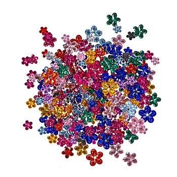 Schmucksteine 'Blumen', bunt, 220 Stück