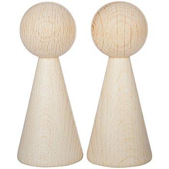 Cônes en bois pour création de figurines, en dimensions différentes