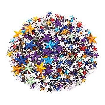 Schmucksteine 'Sterne', bunt, 350 Stück