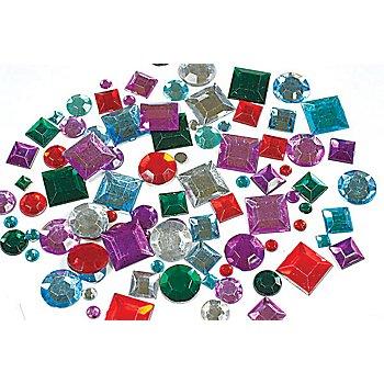 Pierres strass 'forme carrée & ronde', multicolore, 850 pièces