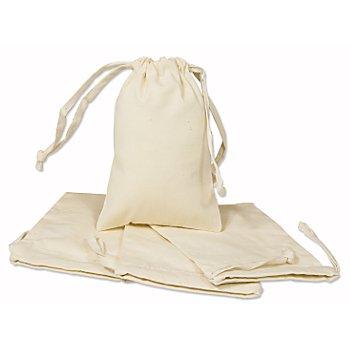 Kleine Baumwollsäckchen, natur, 10 x 15 cm
