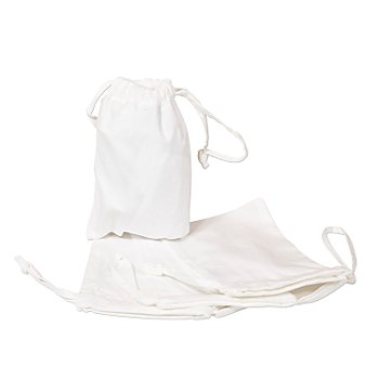Sachets en coton, blanc, 10 x 15 cm