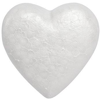Styropor-Herzen, 15 cm, mit flacher Rückseite, 2 Stück