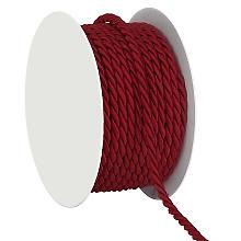 0,50€//m 2m Kordel bordeauxrot Schleifenband 4mm Schnur gedreht Hochzeit