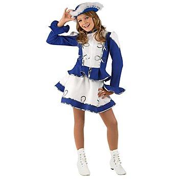Garde Kostüm für Kinder, blau/weiß