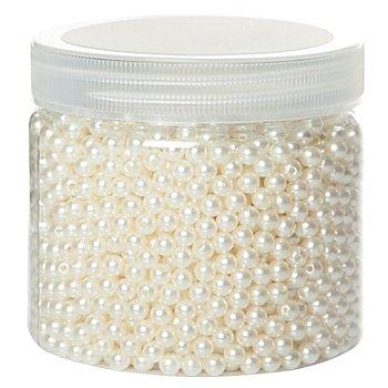 Perlen, perlmutt, 6 mm Ø, 200 g