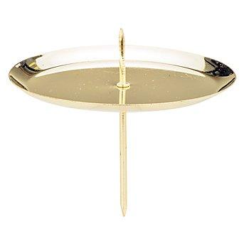 Kerzenhalter, gold, 7,5 cm Ø, 4 Stück