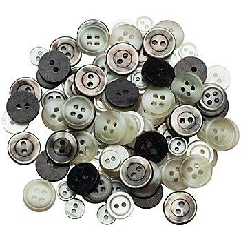 buttinette Hemden- und Blusenknöpfe, Grösse: 8 - 12 mm Ø, Inhalt: 100 Stück