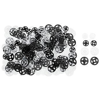 buttinette Druckknöpfe im Sparpaket, zum Annähen, Grösse: 7 - 10 mm Ø, Inhalt: 100 Stück