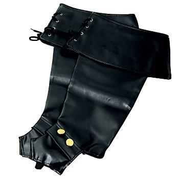 Stiefelstulpen mit Knöpfen, schwarz