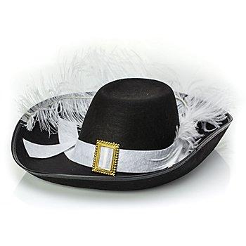 Musketier-Hut, schwarz