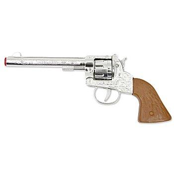 Pistolet de cowboy, argent/marron