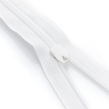 YKK Fermeture à glissière pour linge de lit, blanc, non séparable