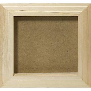 3D-Bilderrahmen aus Holz, 27 x 27 x 3,5 cm