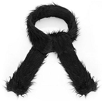 Plüsch-Schal, schwarz
