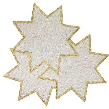 buttinette Anhäkeldeckchen 'Stern', gold