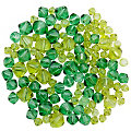 Facettierte  Glasperlen, Grüntöne, 4 - 8 mm, 50 g