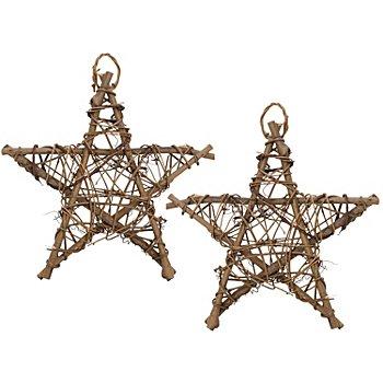 Reben-Sterne, 20 cm, 2 Stück