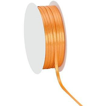 Ruban satin 3 mm, abricot, 20 m