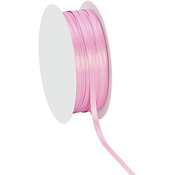 Ruban satin 3 mm, rose, 20 m