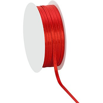 Satinband, rot, 3 mm, 20 m