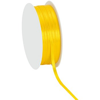 Ruban satin 3 mm, jaune, 20 m