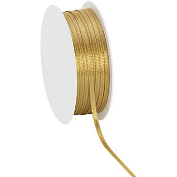 Satinband, gold, 3 mm, 20 m